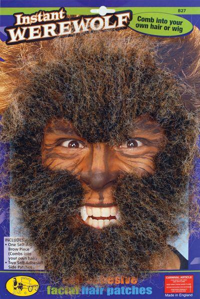 Instant Werewolf Face Hair Kit