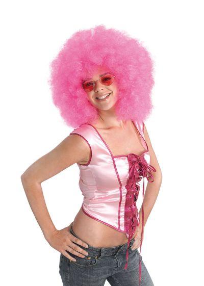 Afro Wig. Mega Pink