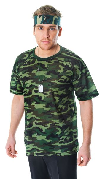 Adult Camouflage T Shirt Thumbnail 1