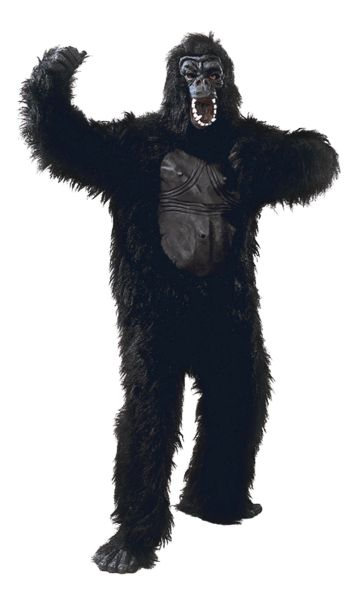 Adult Gorilla Costume with  Rubber Chest Thumbnail 1