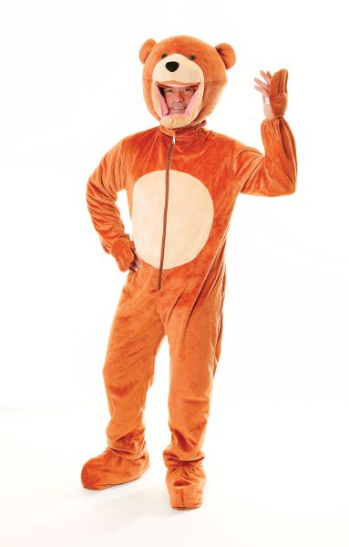 Adult Teddy Bear Big Head Costume Thumbnail 1