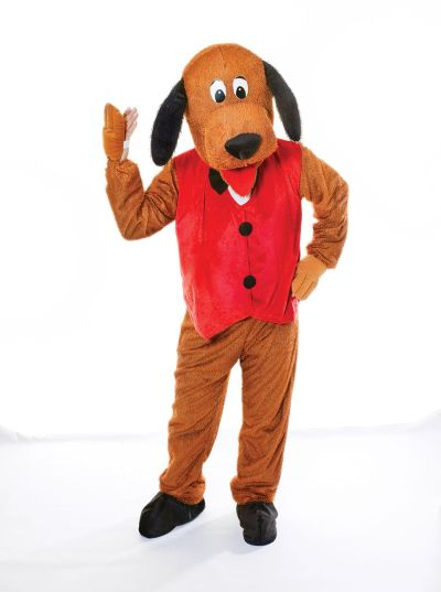 Adult Big Head Dog With Waistcoat Costume Thumbnail 1