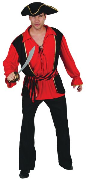 Adults Pirate Captain Costume Thumbnail 1