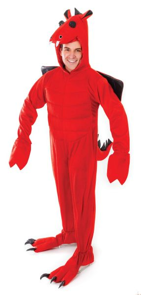 Adult Red Dragon Costume Thumbnail 1