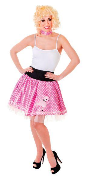Poodle Skirt Pink/White Thumbnail 1