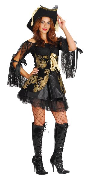 Glamorous Pirate Woman Costume Thumbnail 1