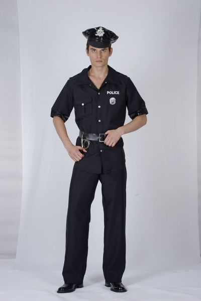 Adult USA Policeman Costume Thumbnail 1