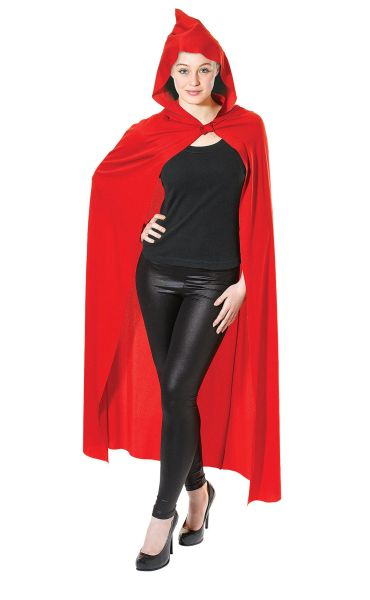Adult Long Hooded Red Cape Thumbnail 2