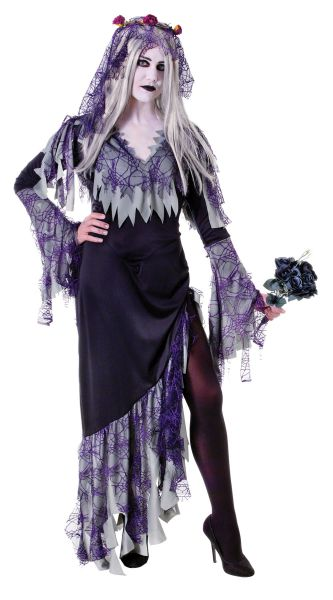Adult Zombie Bride Costume Thumbnail 1