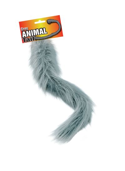 Animal Tail. Grey Thumbnail 1