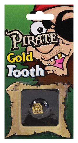 Pirate Skull Tooth Cap. Gold Thumbnail 1
