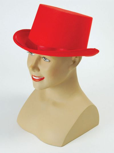 Top Hat. Red Satin Thumbnail 1