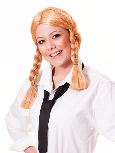 Schoolgirl Wig. Blonde Thumbnail 1