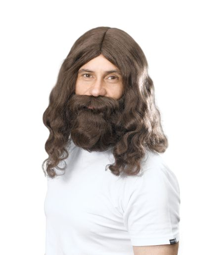 Hippy/Jesus Wig & Beard Set Thumbnail 1