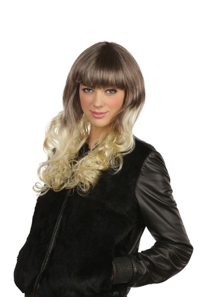 Pop Girl Wig Brown/Blonde Thumbnail 1
