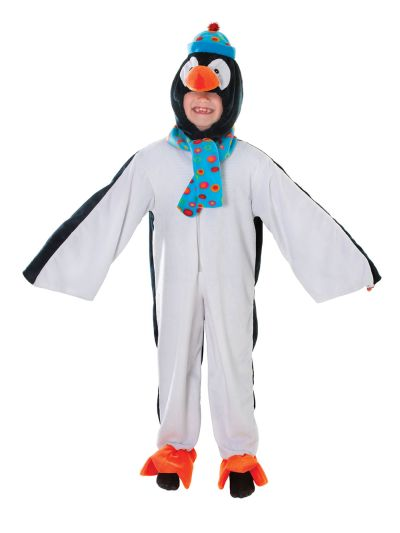 Childs Plush Penguin Costume Thumbnail 1