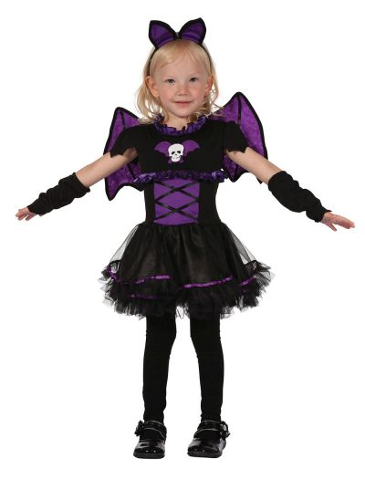 Child Bat Princess Girls Halloween Party Fancy Dress Kids Toddler Costume Outfit Thumbnail 1