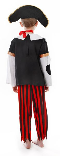 Childs Pirate Skeleton Costume Thumbnail 2