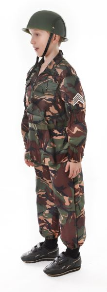Childs Soldier Camouflage Costume Thumbnail 2