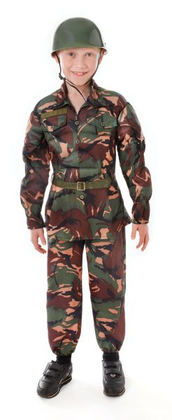 Childs Soldier Camouflage Costume Thumbnail 1