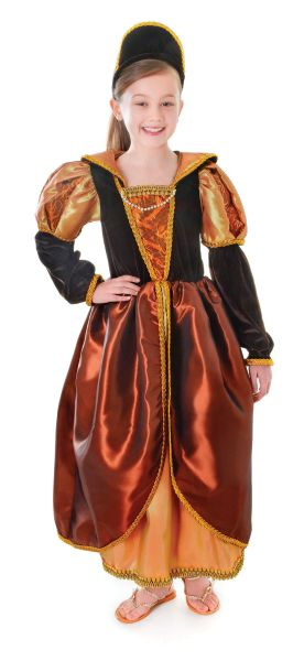 Childs Tudor Queen Bronze Costume Thumbnail 1