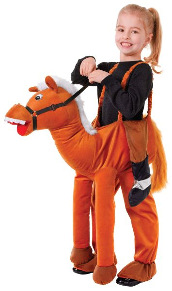 NEW Boys Girls Childrens Childs Horse Step In Ride On Outfit Fancy Dress Costume Thumbnail 1