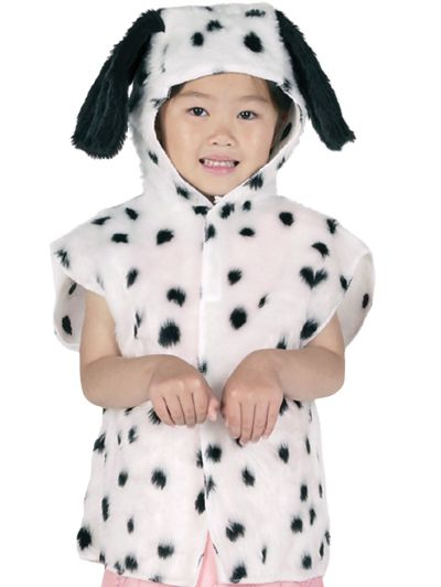 Childs Dalmation Fur Tabard Thumbnail 1