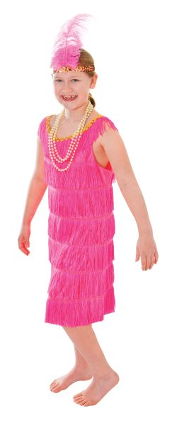Childs Pink Flapper Dress Thumbnail 1