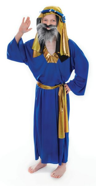 Childs Blue Wise Man Costume Thumbnail 1
