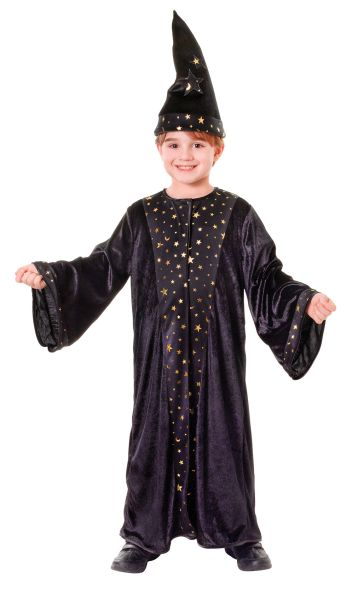Kids Deluxe Magic Wizard Robe Boys Book Week Fancy Dress Childs Costume Outfit Thumbnail 1