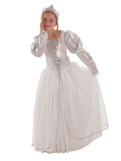 Childs White Princess Costume Thumbnail 1
