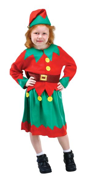 Girls Santas Helper costume Thumbnail 1