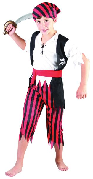 Childs Pirate Boy Jim Costume Thumbnail 1