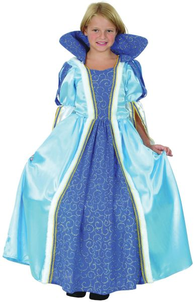 Childs Deluxe Blue Princess Costume Thumbnail 1