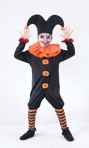 Childs Evil Jester Costume Thumbnail 1