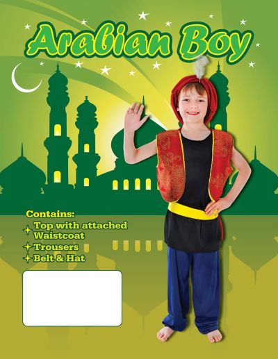 Childs Arabian Boy Costume Thumbnail 4