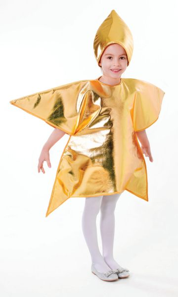 Childs Gold Star Costume  Thumbnail 1