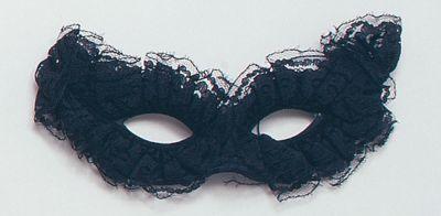 Venetian Carnival Mask. Black Thumbnail 1