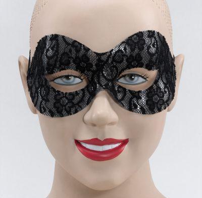 Black Lace Domino Eye Mask Thumbnail 1