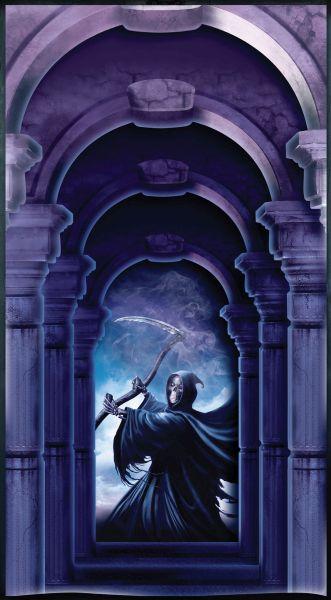 Halloween door Cover. Grim Reaper Thumbnail 1