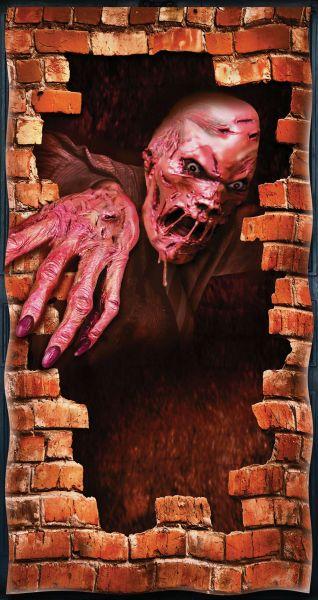 Halloween door Cover. Melting Zombie Thumbnail 1