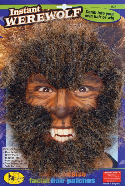Instant Werewolf Face Hair Kit Thumbnail 1