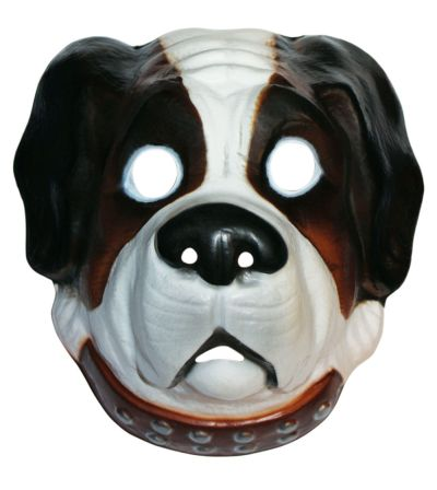 Adult Plastic Dog Mask  Thumbnail 1