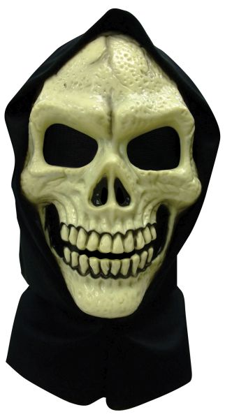 Skull Hooded Mask PVC Thumbnail 1