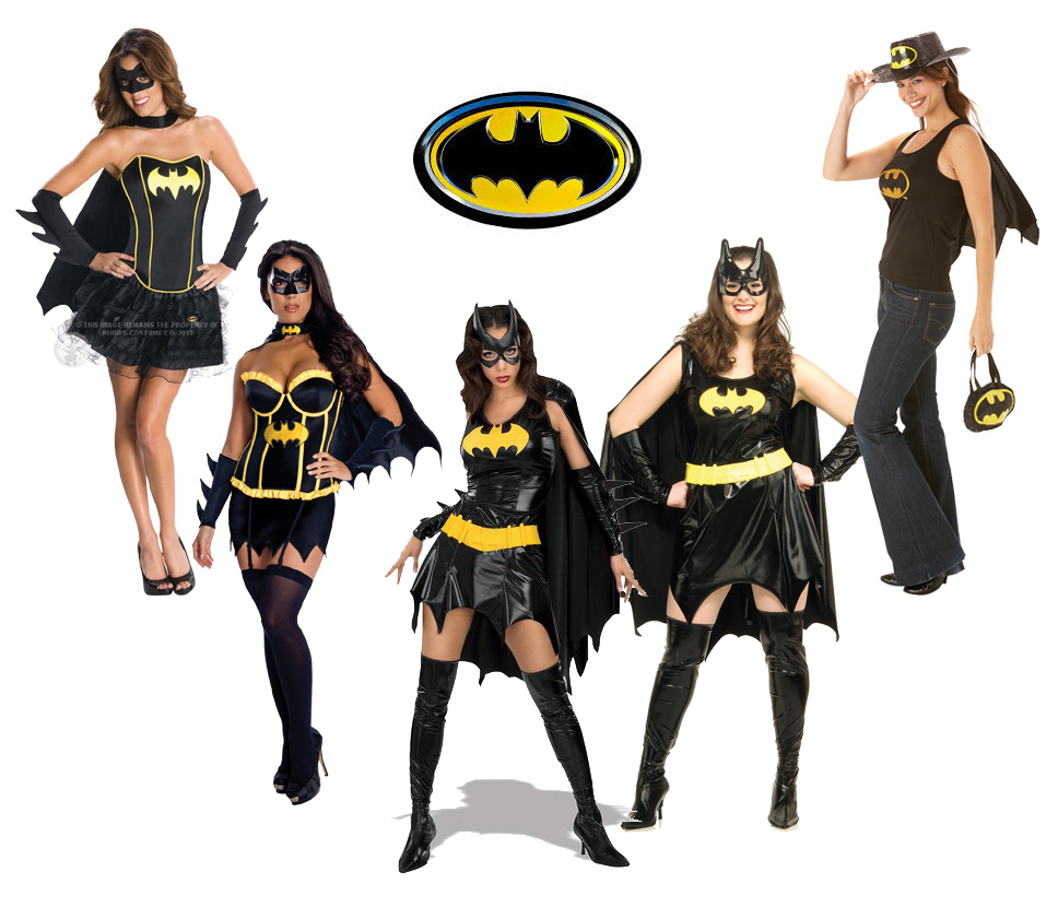 adult sexy batman superhero batgirl ladies fancy dress hen party costume outfit