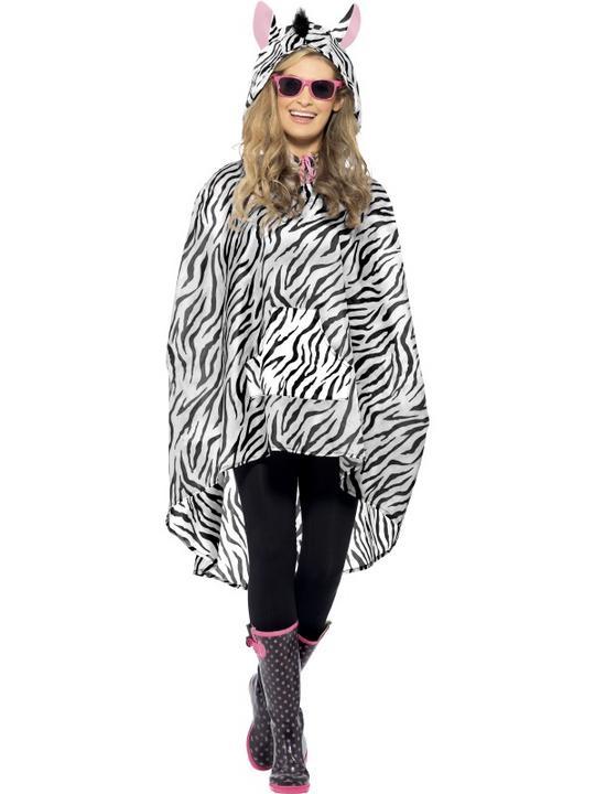 Zebra Party Poncho Thumbnail 1