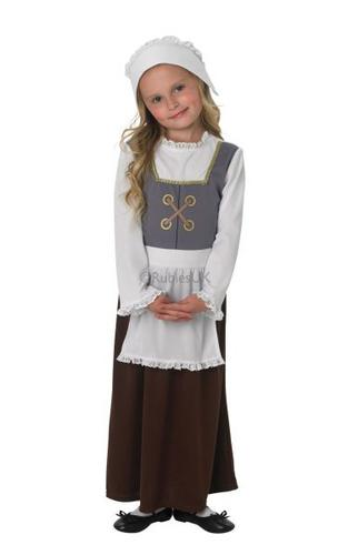 Child Tudor Girl Costume Thumbnail 1