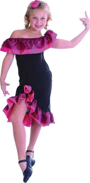 Childs Flamenco Girl Costume Thumbnail 1