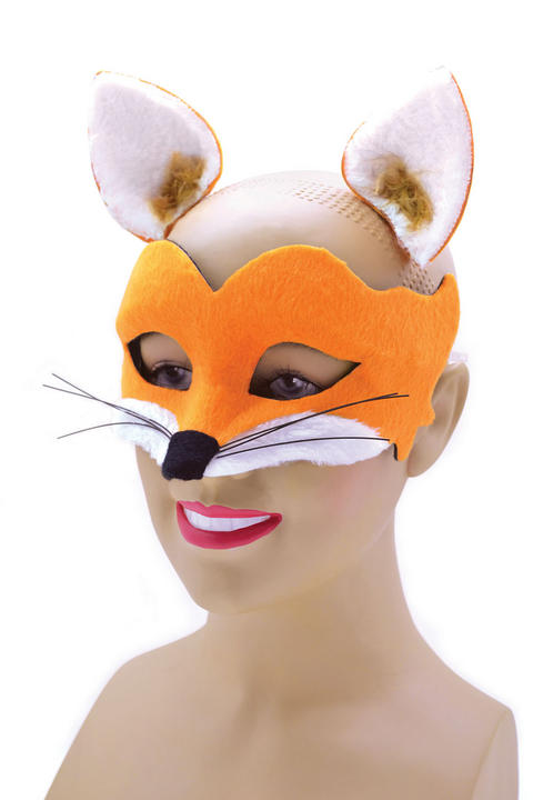 Adult Fox Mask with Ears Thumbnail 1