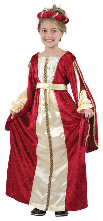 Childs Regal Princess Red Costume Thumbnail 1